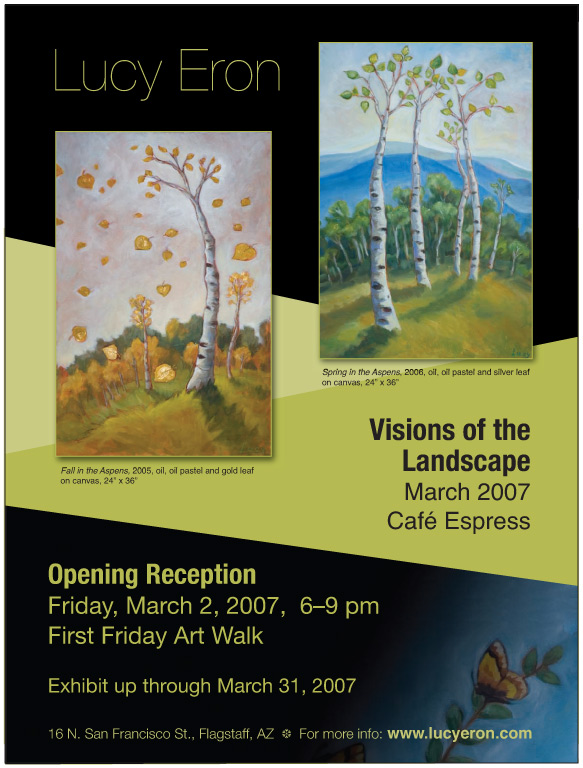 Lucy Eron Art show flyer - march 2007 at Cafe Espress