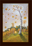 Fall in Aspens Greeting Card by Lucy Eron