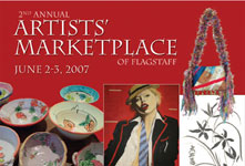 Artists Marketplace postcard and poster