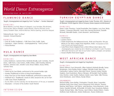 World Dance Program
